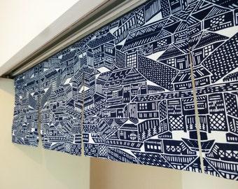 Japanese noren order made, indigo blue noren curtain, japanese tenugui fabric, kyoto city noren, wall tapestry, wall fabric panel, Kyoto