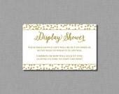 Display Shower Bridal Shower Printable Card -Instant Download