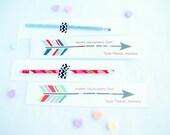 Arrow Pencil Valentine Cards Printable Customized Classroom PDF