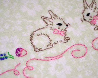 Easter, Hand embroidery patterns, pdf, Rabbit embroidery, Easter bunny, diy gift by NaiveNeedle