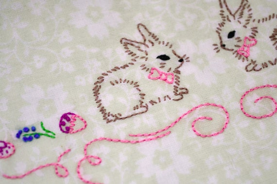 Easter hand embroidery patterns pdf rabbit
