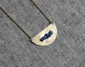 SALE ACCIUS Half circle Lapis Lazuli Necklace