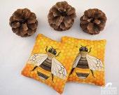 Bumble Bee Microwavable Wheat Warmers, Hand Warmers, Heat Pad