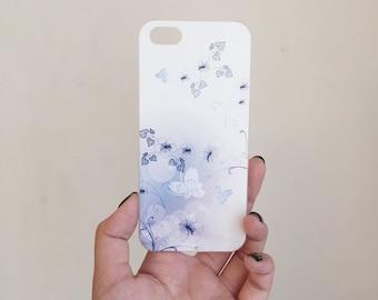 Beautiful Butterfly flower purple  iphone 5 case, iphone 5s case, iphone 5, iphone 5s, iphone cover