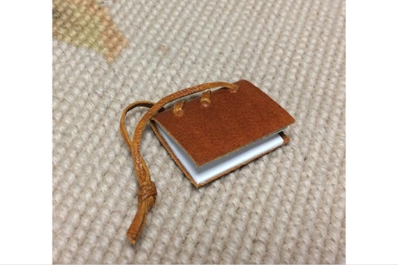 DOLLHOUSE MINIATURE - Journal Book  - by Pat Tyler Leather Miniatures
