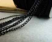 10 Meters electro black 2.5mm extended link chain wholesale jewelry findings- WE1013