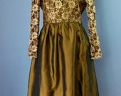 Copper Ball Gown / Vtg 90s / Talbots Kathryn Conover Size 14 / Satin and Lace Copper Ball Gown / Mother of the Bridge / Evening dress