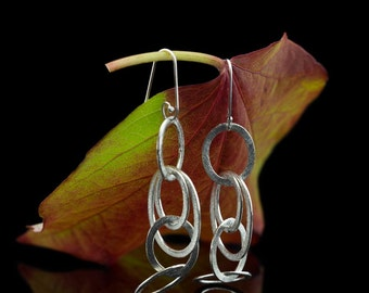 BRUSHED SILVER LOOPS | Earrings in brushed Sterling Silver (Free shipping)