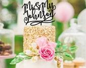 Wedding Cake Topper - Mr & Mrs Cake Topper - Last Name Wedding Cake Topper