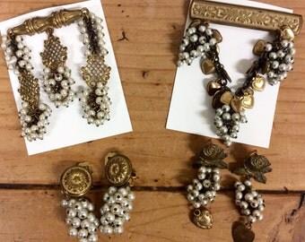 Vintage Brass Jewelry Lot - FINAL SALE