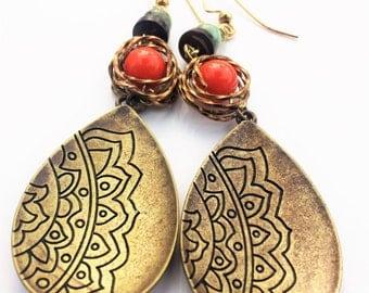 Women's Earrings, Gold Earrings, Jewellry Gift for her, Long earrings, Jewelry Gift, Best Friend Gift, Anniversary Gift, Birthday, Clip Ons