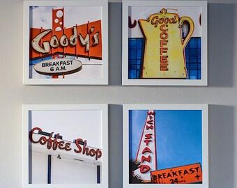 Coffee Shop Photography Series, Breakfast Nook Prints, Set Of 4 Prints,  Kitchen Decor