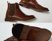 vintage FRYE Leather Slip On Ankle Boots / Mens 7.5  / Womens 9.5