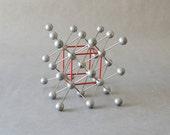 Vintage molecular atom model chemistry lab supply geometric sculpture teaching material tungsten wolfram