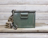Vintage Industrial Green Bin