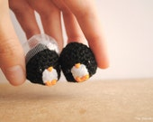 Amigurumi Penguin, wedding gift, bride and groom, cute keychain, Mr & Mrs, winter wedding, bridal shower gift, cake topper, MADE TO ORDER
