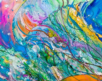 Va Beach Jelly-Art by Jen Callahan Tile,Cuttingboard,Paper Print