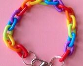 Bright Rainbow Chain Bracelet