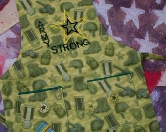 Army Strong Preschool Apron