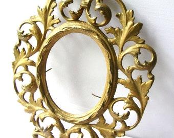 Antique Brass Frame - Metal Picture Frame - Antique Metal Frame - Brass Picture Frame
