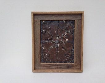 Framed Ceiling Tin Magnet Board Handmade with Barnwood