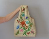 ON HOLD - please do not buy - 70s crewel purse / vintage embroidered bag
