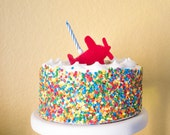Airplane Candle Holder Birthday Cake Topper