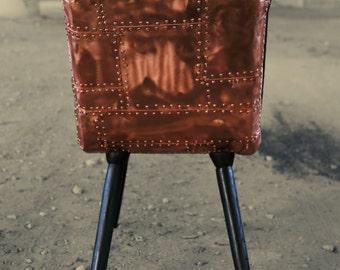 Chair Krafla/sister. Copper chair. Luxury furniture. Lounge chair.