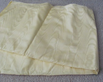 """Fabric Solid Creamy Yellow Moire Fabric Yardage - 48"""" x 112"""" 3 yards total"""