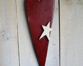Primitive Heart with Star, Wall Hanging