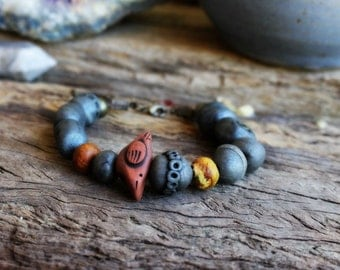 Confidence - Clay Medicine Woman Bracelet - Sacred Jewelry. See Listing for full Description