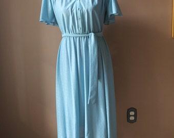 Vintage 70s Blue Dress