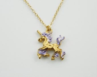 Unicorn Necklace in Lilac - NC0033
