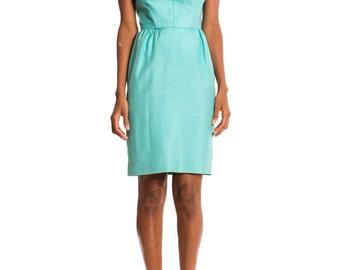 Vintage 1950s Silk Day Dress  Size: XS/S