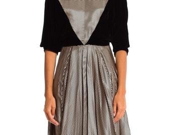 Vintage 1950s Velvet Satin Dress Size: XS/S