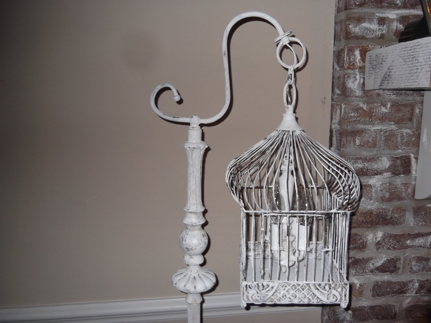 chandelier floor lamp vintage chandelier bird cage light. Black Bedroom Furniture Sets. Home Design Ideas