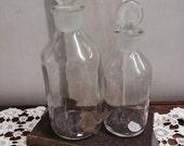 Set of USA Vitro Clear Glass Bottles
