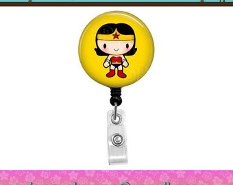 Wonder Woman (05) Superhero Comics Super Hero Button Retractable ID Badge Reel. Custom Requests Welcome. See Announcements Discount Coupon.