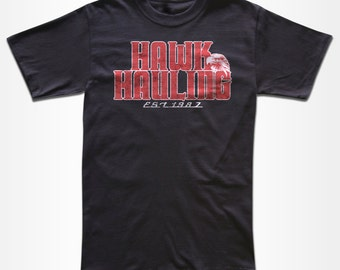 Hawk Hauling T Shirt - Graphic Tees For Men, Women & Chilren - 1980's, Trucker, Over The Top, Movie,