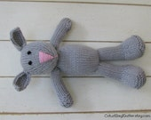 """New Baby Gift - Shower Gift - Knit Bunny Toy-  Baby Toy - Baby Stuffed Bunny- Photo Prop- Kids Toy- Stuff Animal- Baby Toy- 12"""" Tall - Toy"""