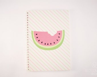 A5 50 pg Notebook - Recycled Paper. Watermelon