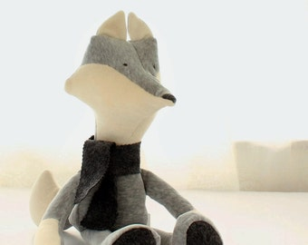 Fox soft toy pattern, PDF stuffed toy pattern, PDF Sewing pattern to make your own soft toy Fox - instant download