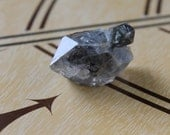 Tibetan Terminated Quartz Crystal with Cross Crystal - has Black Phantom, Etching, Corrosion and Growth Interference (C5a)