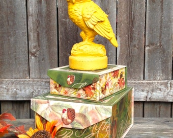 Marigold Casted Metal Standing Owl