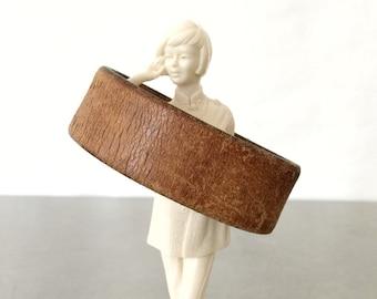 Leather Cuff - Rustic Bracelet - Size Large