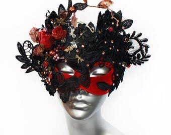 Fairy Accessories Masquerade Mask, Gothic Lace Headpiece, Fantasy Costume Accessories, Halloween mask