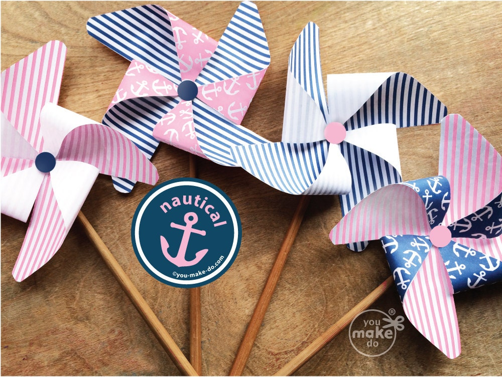 pink nautical party decorations nautical girl birthday, Baby shower invitation