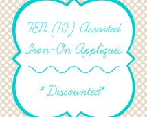 Baby Iron-Ons, Set of 10 Iron-On Appliqués for Baby Shower Craft, Onesie Station