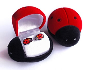 Ladybird Earrings - Cute Accessories - Colourful Stud Earrings - Small Gift - Cute / Kawaii - Jewellery - Ladybug - Ladybird Gifts