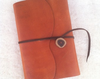 Light Brown Handmade Leather Refillable Journal